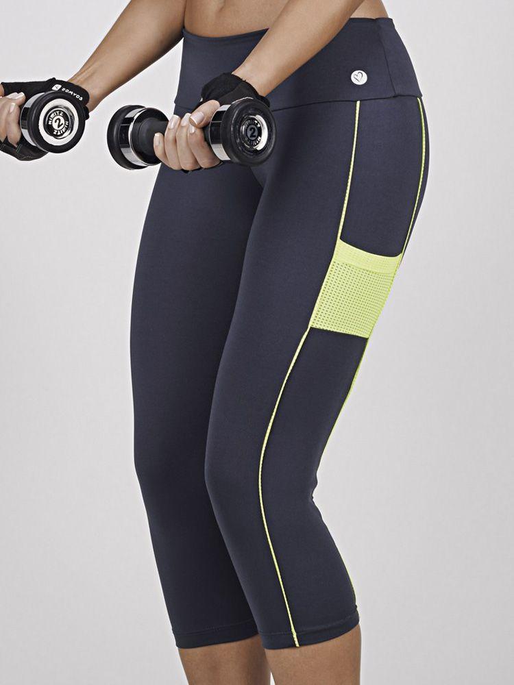 Calça Corsário Fitness Pluton DeMillus 00104