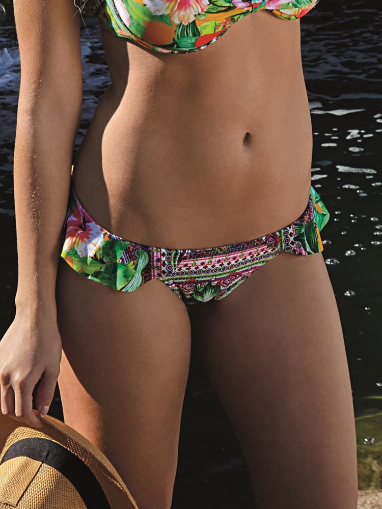 Calça de Praia Babado Hibisco DeMillus 12066