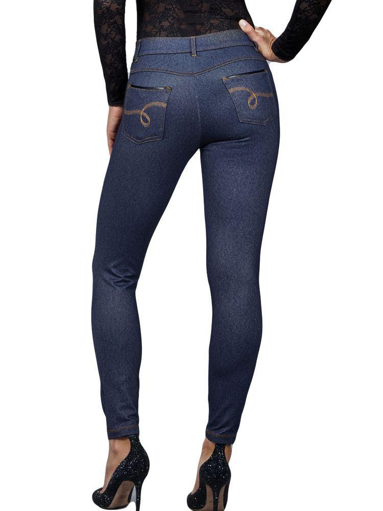 Calça Legging Bordada Jeans DeMillus 00118