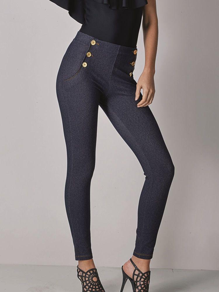 Calça Legging Botões Jeans DeMillus 00125