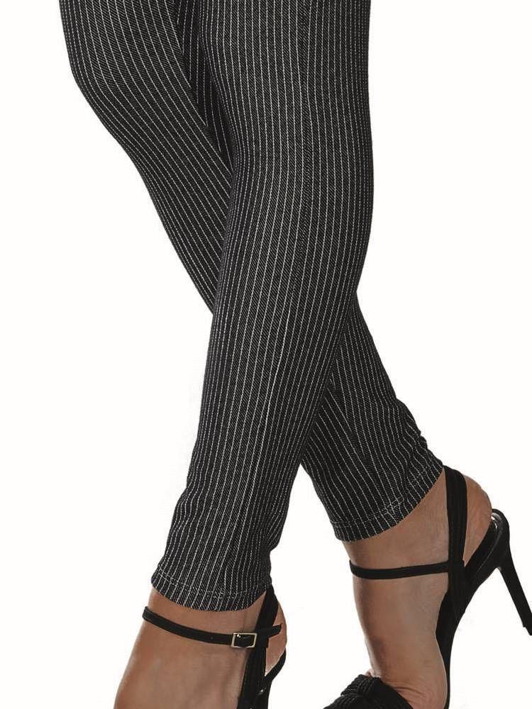Calça Legging Riscadinho Jeans DeMillus 00136