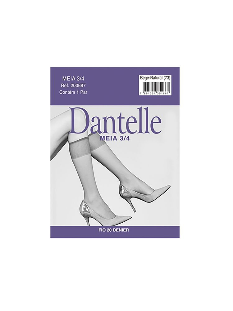 Meia 3/4 Dantelle Fio 20 DeMillus 200687