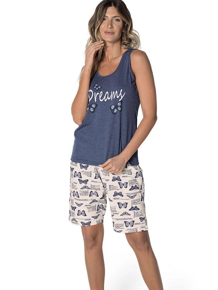 Pijama Curto Bermudoll Borboleta DeMillus 220344