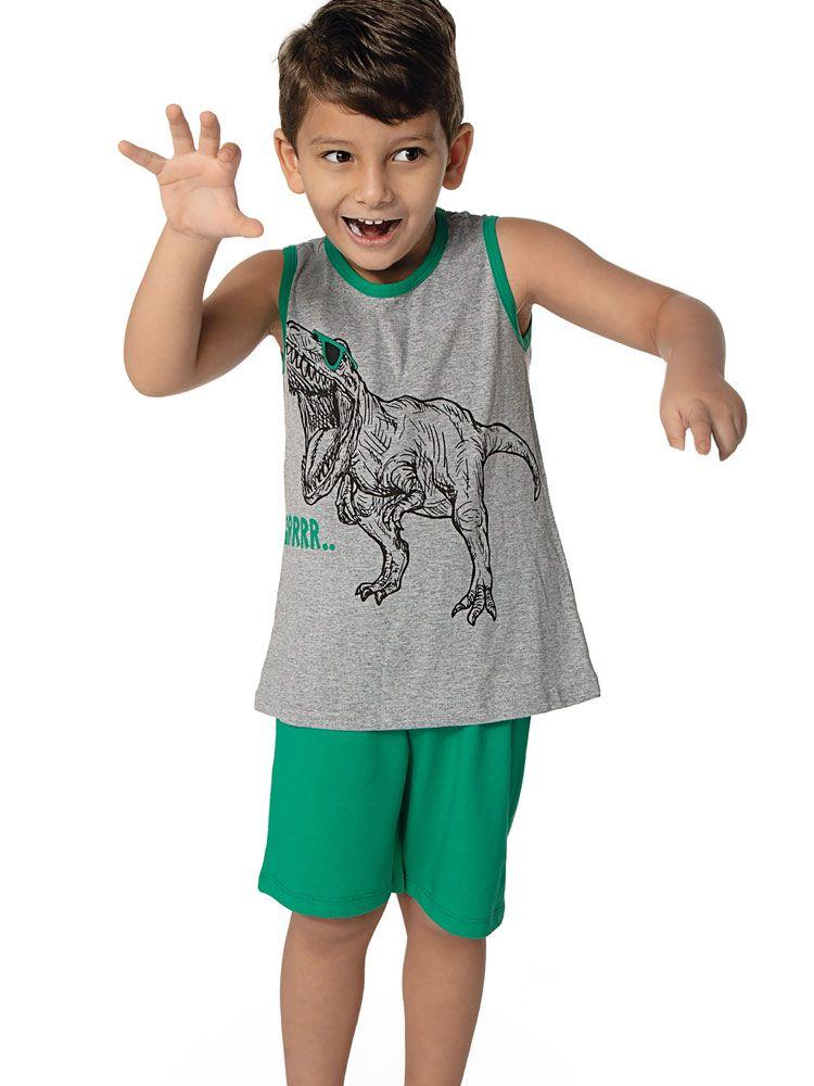 Pijama Curto Infantil Kid Dino DeMillus 220146