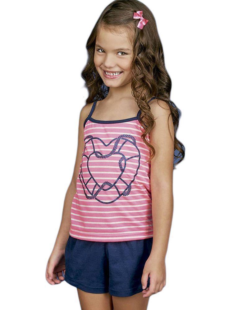 Pijama Curto Short Doll Infantil DeMillus Travessia 20117