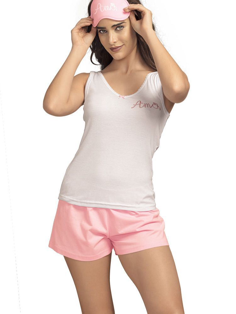 Pijama Curto Shortdoll Alliage DeMillus 220065
