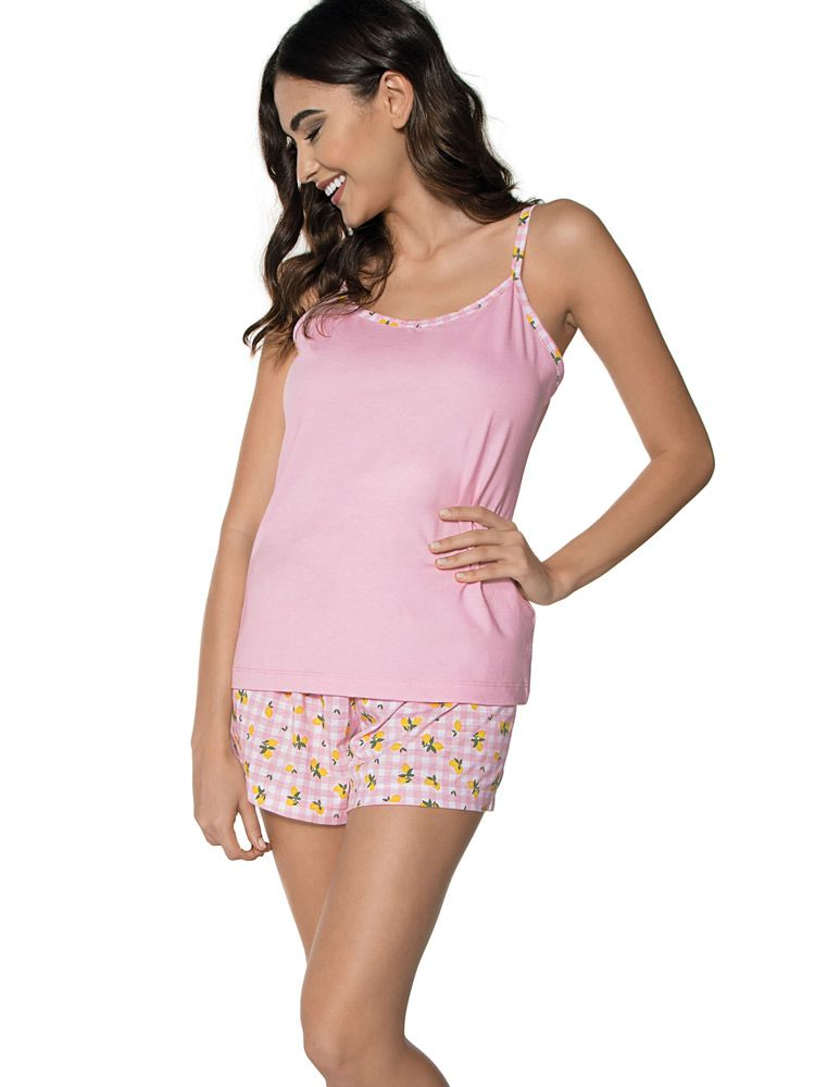 Pijama Curto Shortdoll Amizade DeMillus 220829