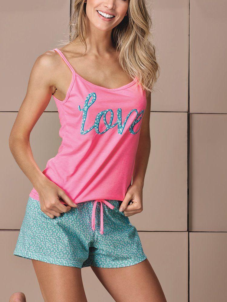 Pijama Curto Shortdoll Bluedream DeMillus 20125
