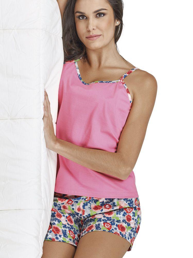 Pijama Curto Shortdoll Buquê DeMillus 20099