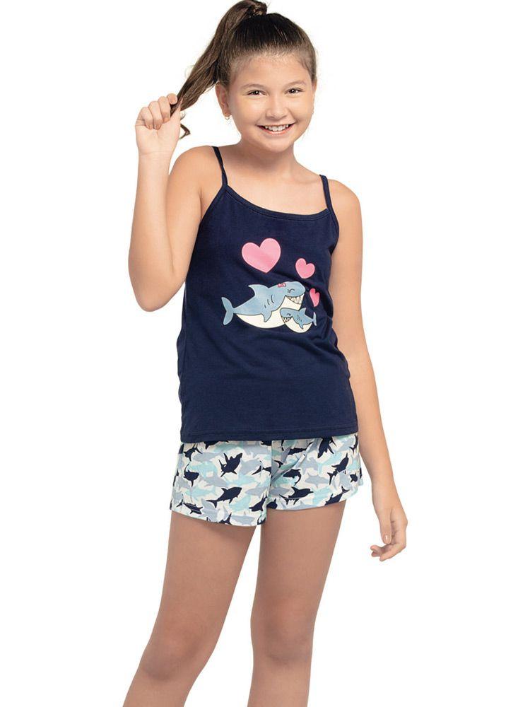 Pijama Curto Shortdoll Feminino Arazul DeMillus 220133