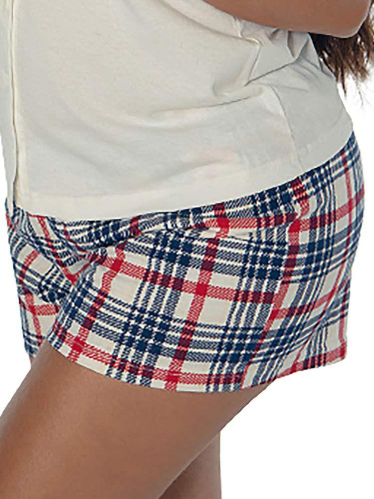 Pijama Curto Shortdoll Feminino Xadrez DeMillus 220432