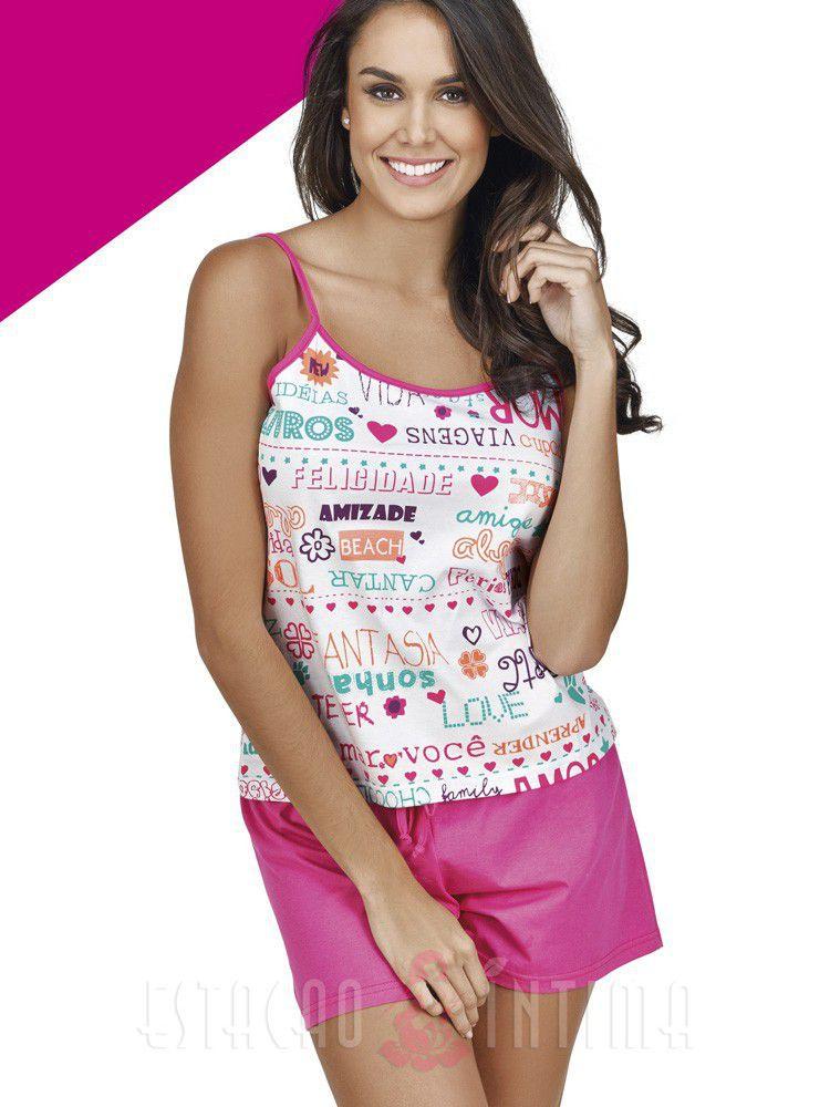 Pijama Curto Shortdoll Mensage DeMillus 20107