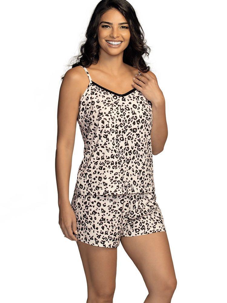 Pijama Curto Shortdoll Oncinha DeMillus 220140