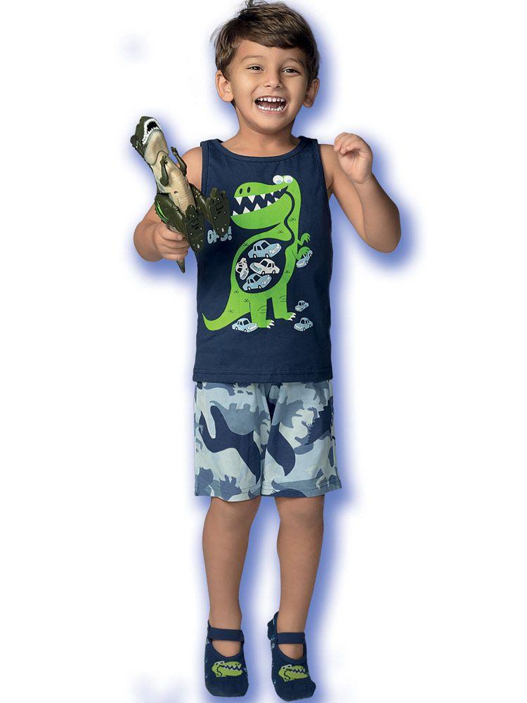 Pijama Infantil Kid Dinossauro DeMillus 220124