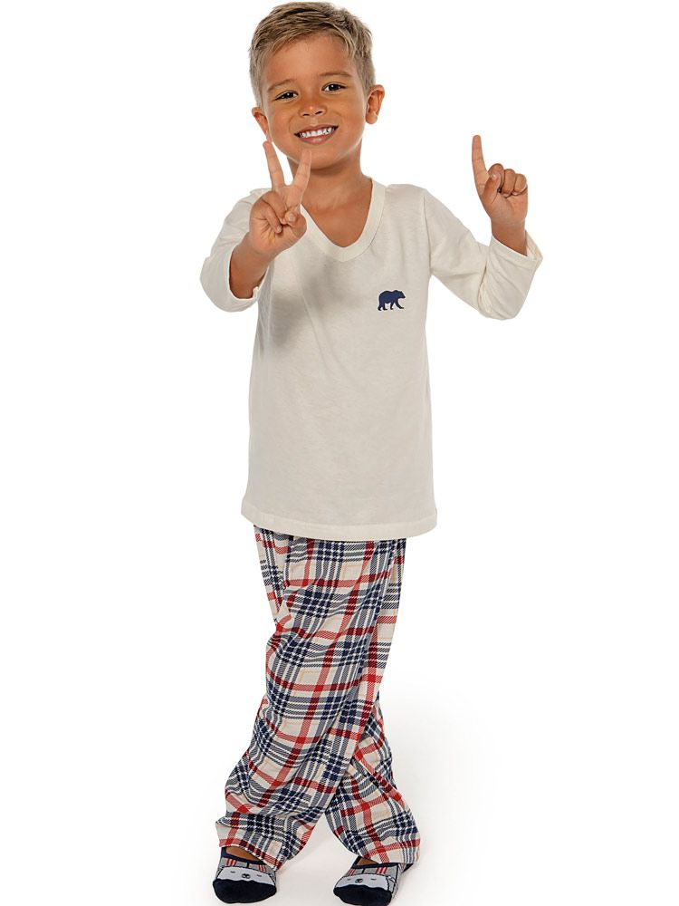 Pijama Infantil Kid Xadrez DeMillus 285433