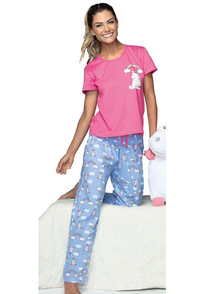 Pijama Longo Arco Íris DeMillus 85007