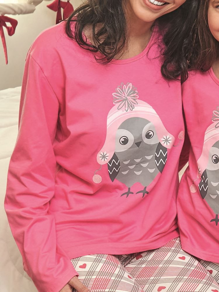 Pijama Longo Corujinha DeMillus 85120