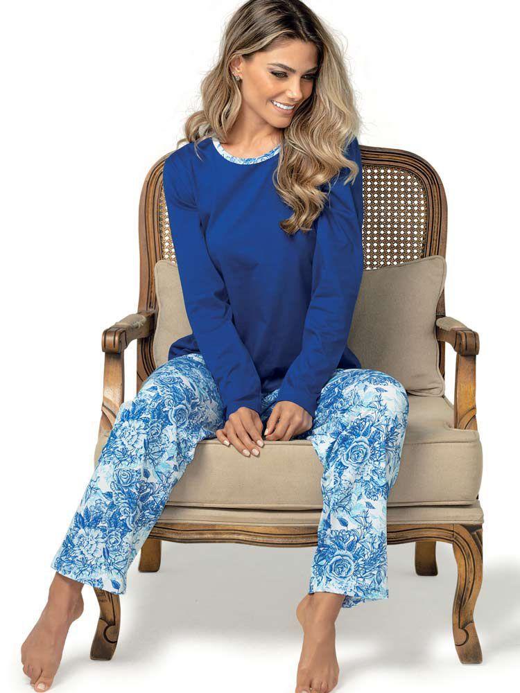 Pijama Longo DeMillus Blue 285145