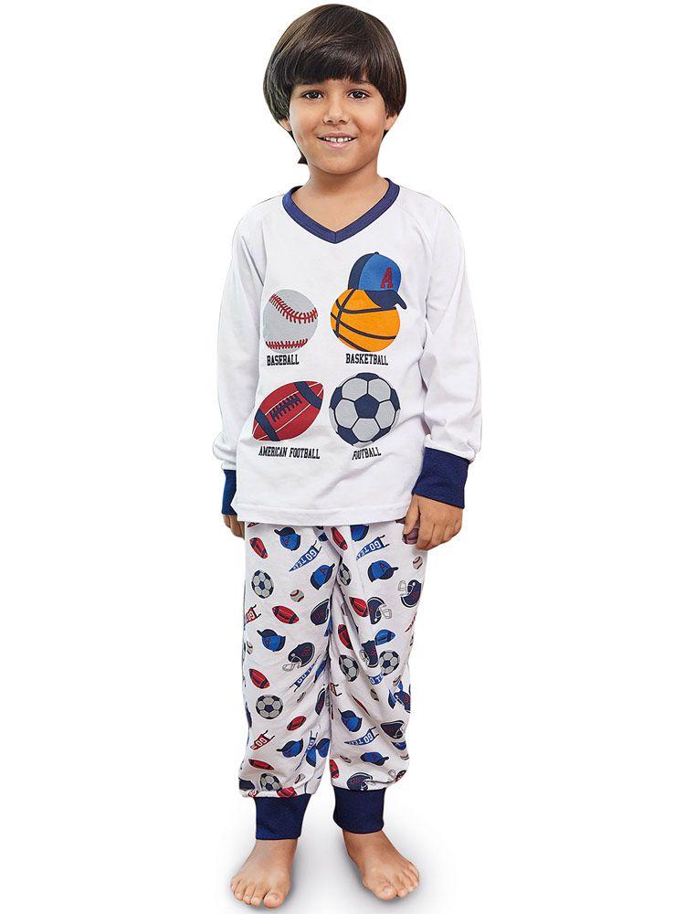 Pijama Longo Infantil Kid Bolas DeMillus 85005
