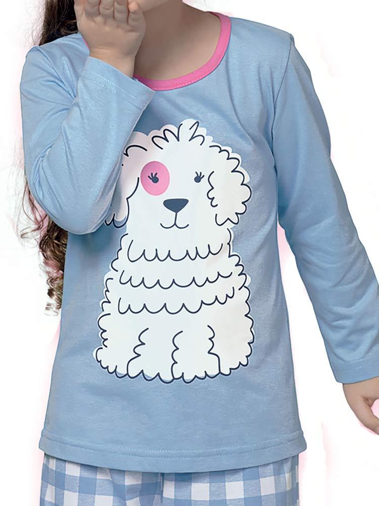 Pijama Longo Infantil Menina Delfos DeMillus 285119