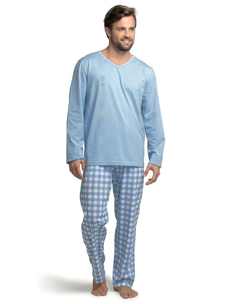 Pijama Longo Masculino Delfos DeMillus 285219