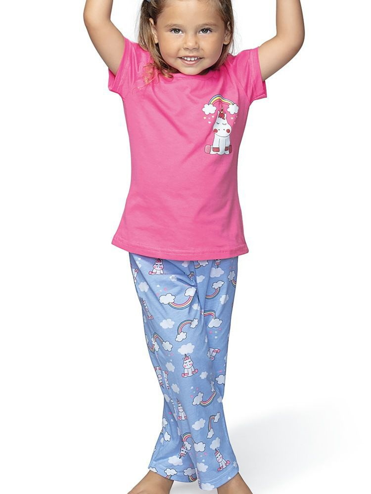Pijama Longo Menina Arco Íris DeMillus 85017