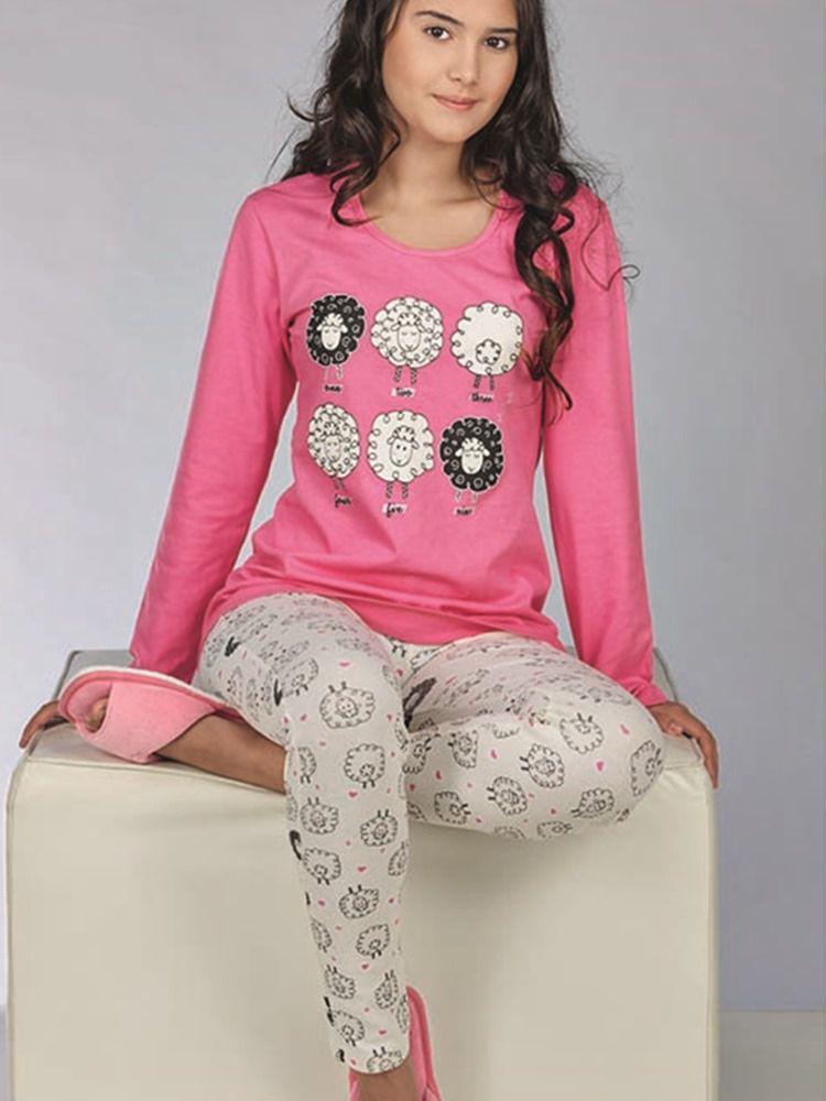 Pijama Longo Ovelhinha DeMillus 85124