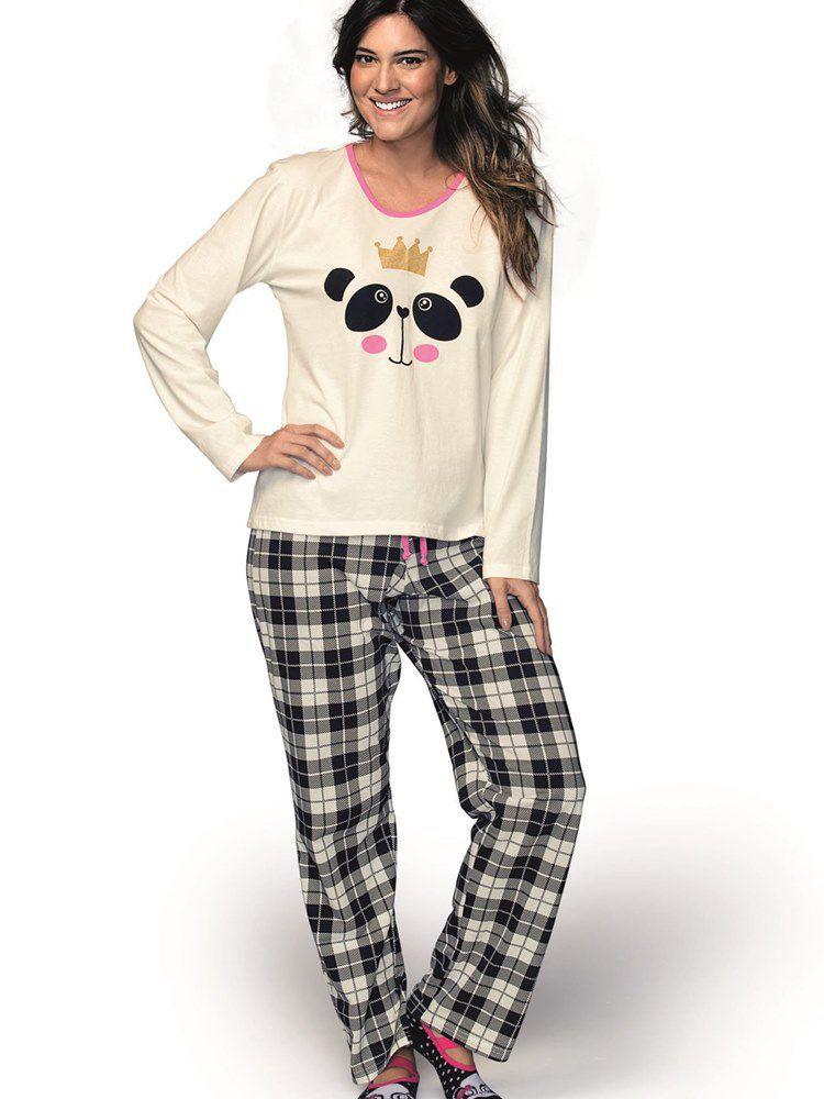 Pijama Longo Panda DeMillus 85008