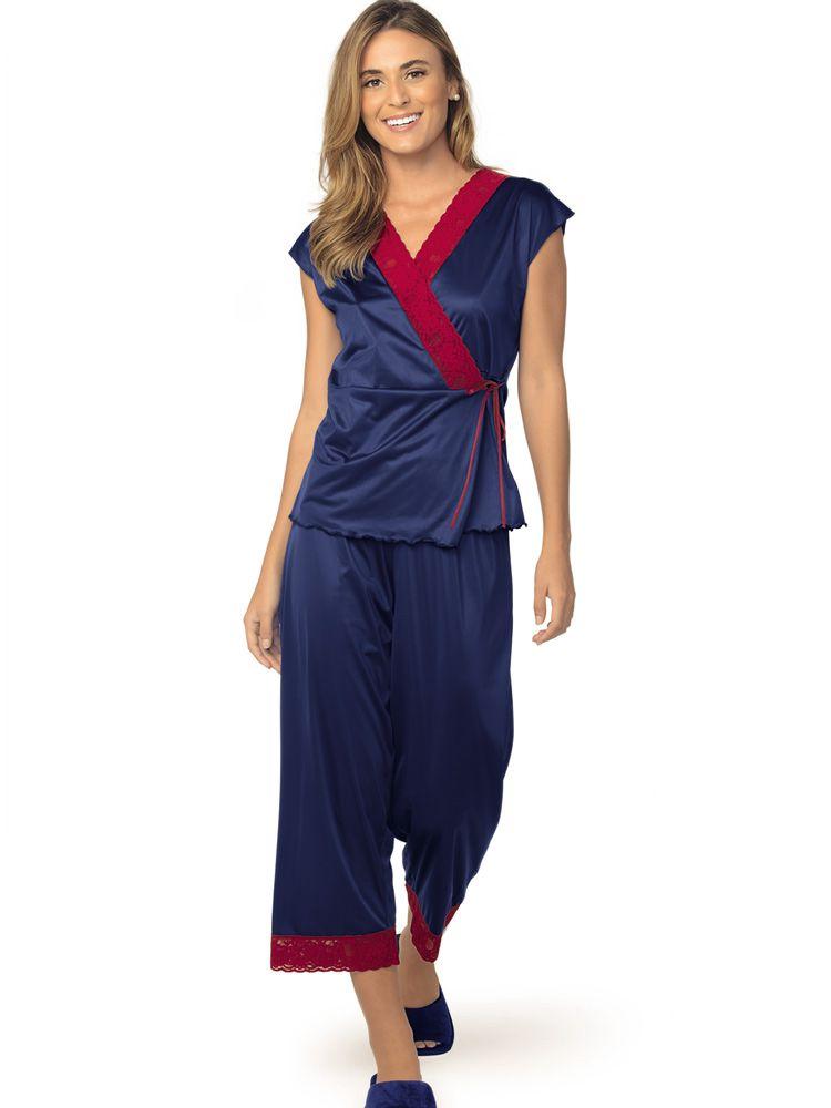 Pijama Longo Pantacourt Cálice DeMillus 85220