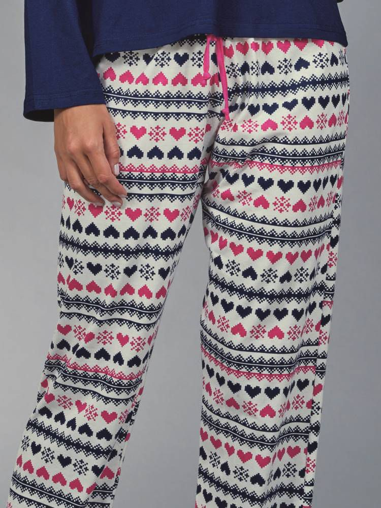 Pijama Longo Pointelle DeMillus 85122