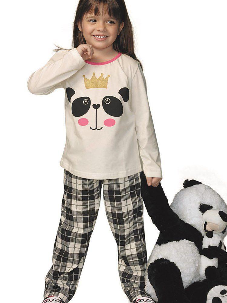 Pijama Menina Panda DeMillus 85018