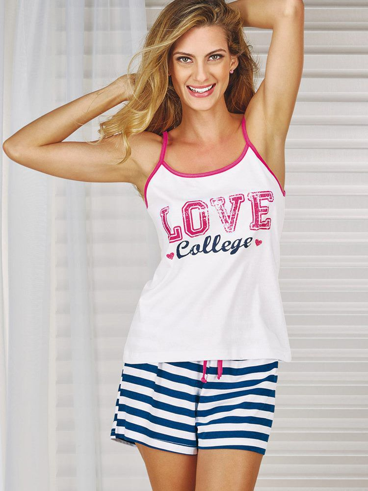 Pijama Short Doll Miss America DeMillus 20113