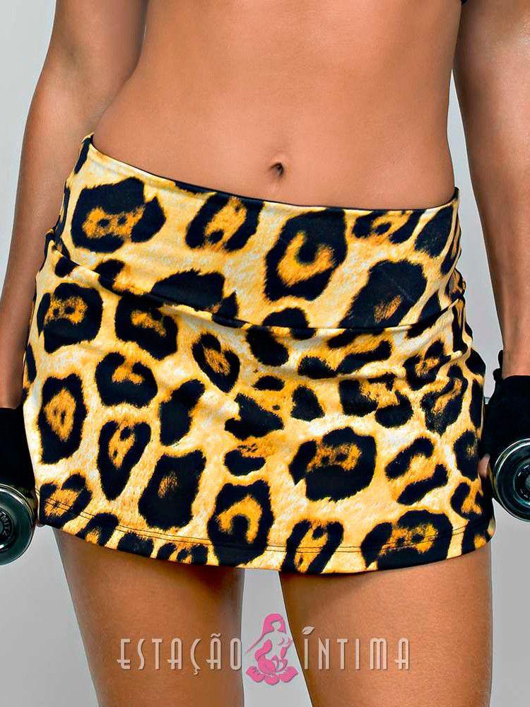 Saia Short Fitness Oncinha DeMillus 94826
