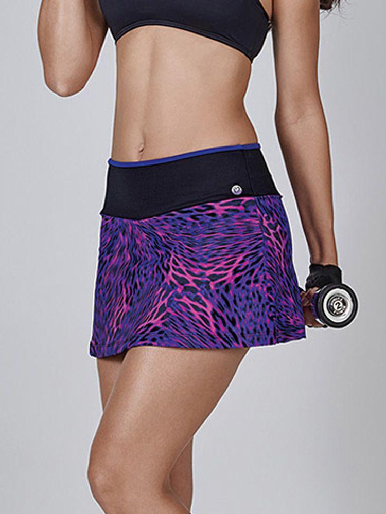 Saia Short Fitness Oncinha Roxa DeMillus 94835