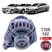 Alternador Fiat Motor Fire 1.0 / 1.4 110A com Ar Condicionado - Denso