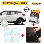 Kit Proteção Maçaneta + Soleira + Canto Porta Nissan Kicks - Antichip