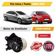 Motor Caixa de Ventilção A/C Manual Linea 2009/2015 Punto 2008/2015 12 Volts