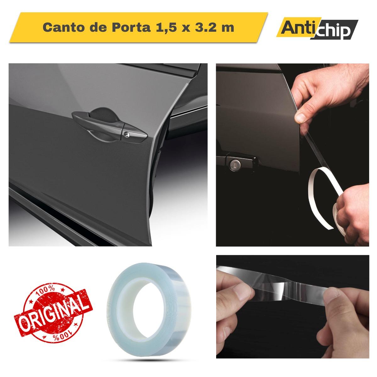 Adesivo proteção de pintura PPF Automotivo Anti-risco Canto de Porta 1,5cm x3,6m - Antichip