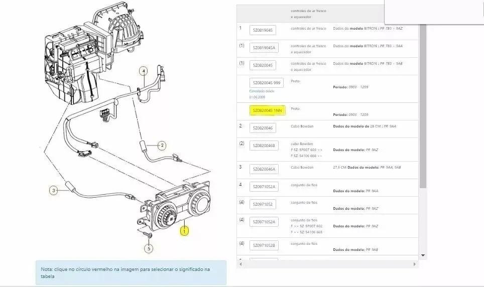 Comando Ar Condicionado VW Fox - Omron