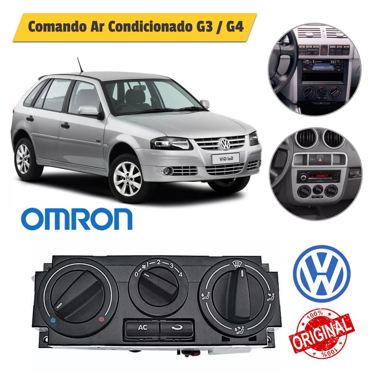 Comando Ar Condicionado WV Gol G3 / G4 Original - Omron