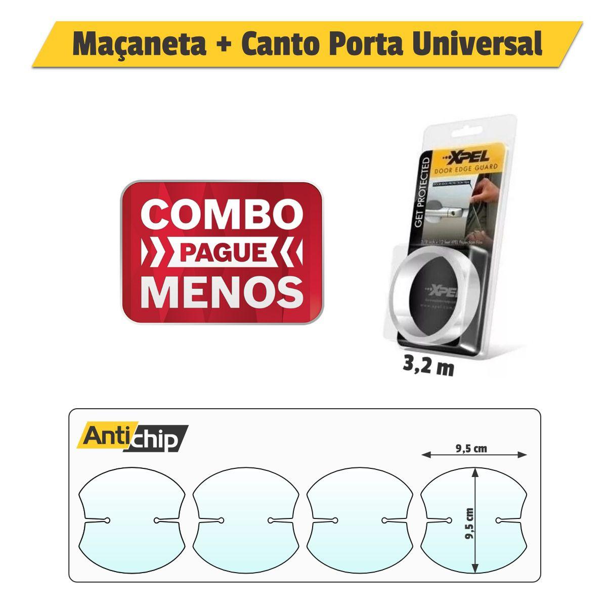 Combo Pelicula Maçaneta + Canto de Porta Universal - Antichip