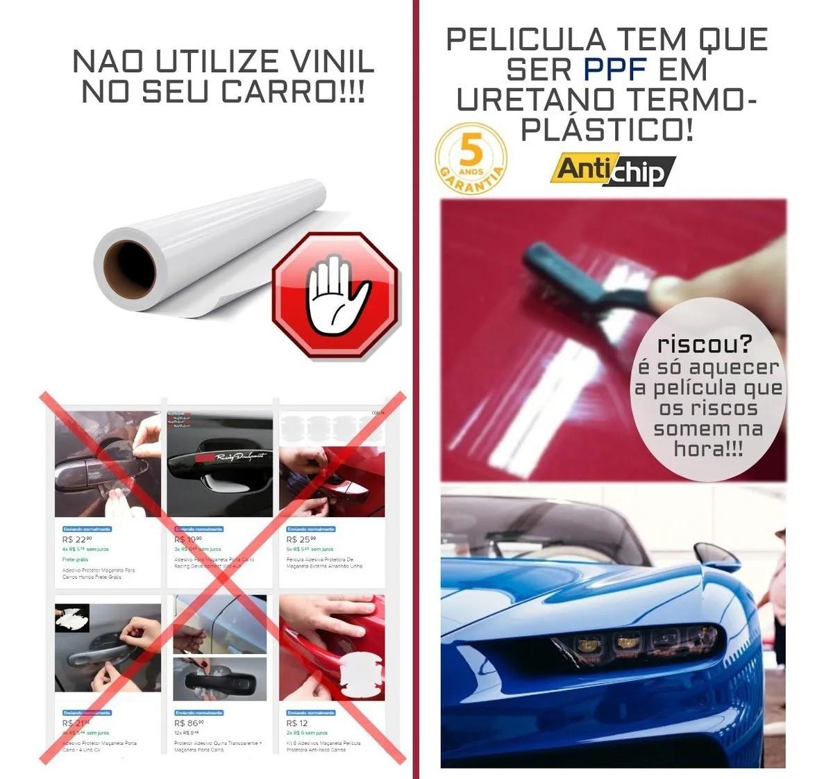 Kit Película PPF Protetor de Maçaneta + Canto de Porta Antichip - Civic 2020
