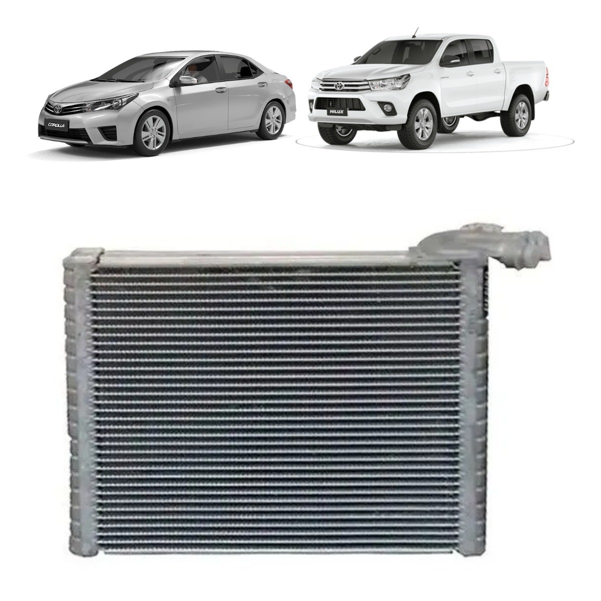 Evaporador Toyota Corolla,  Hilux, Rav, SW4 - Denso