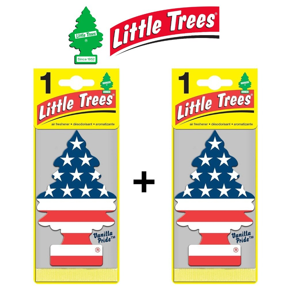 Kit 2 Aromatizadores Veicular Vanilla Pride Little Trees