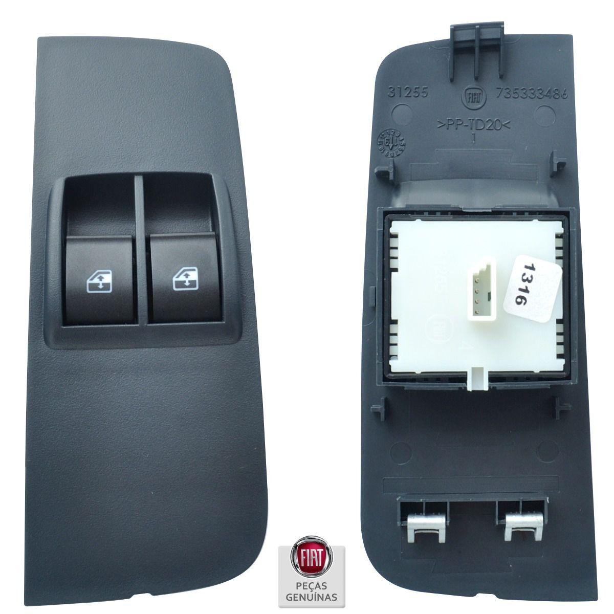 Kit Interruptor Vidro Elétrico 2 Portas Completo - Fiat