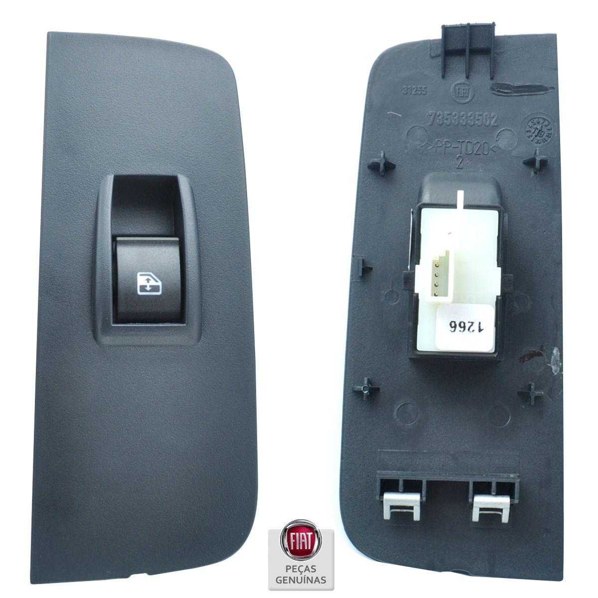 Kit Interruptor Vidro Elétrico 4 Portas Completo - Fiat