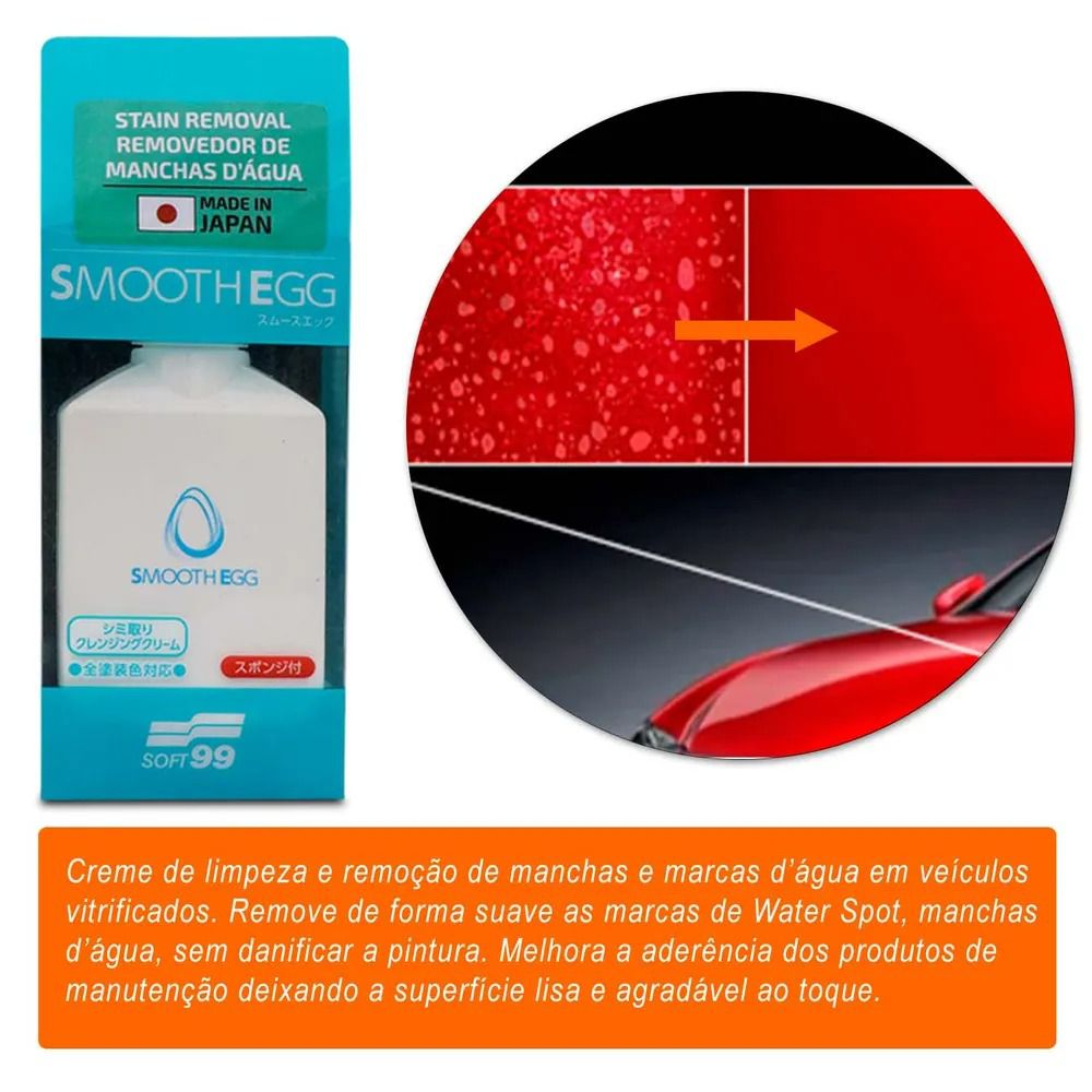 Kit Limpeza Automotiva Soft99 Cera Luxury Gloss Toalha Híbrida Removedor de Mancha e Repelente Glaco