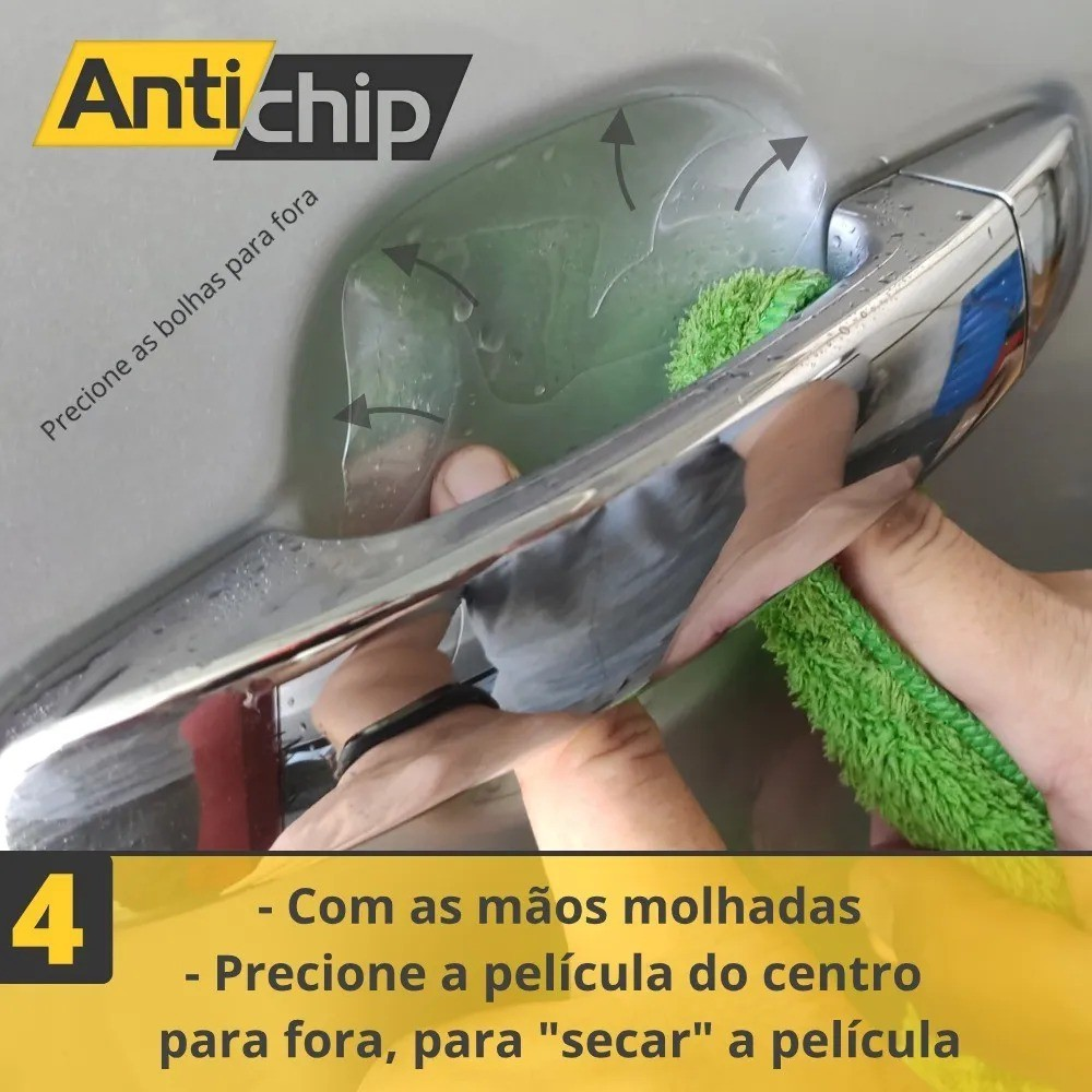 Kit Pelicula PPF Maçaneta + Canto de Porta Universal - Antichip
