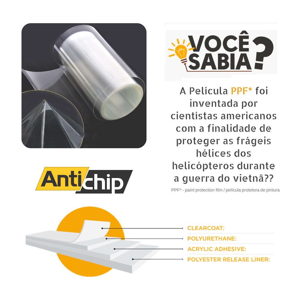 Kit Película PPF Protetor de Maçaneta + Canto de Porta Antichip - Novo Onix