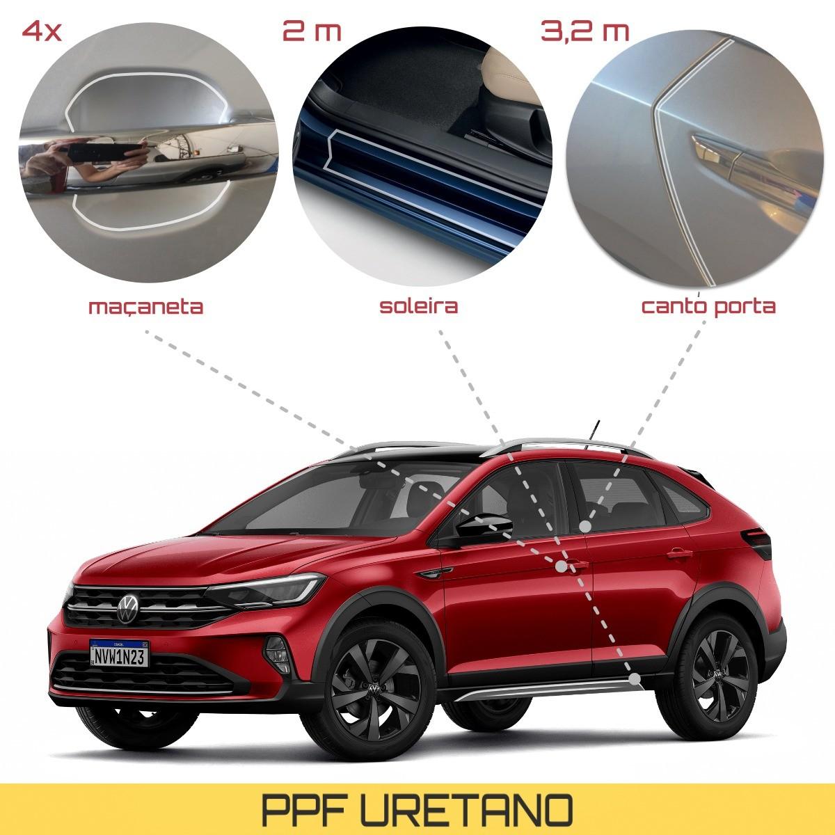 Kit Pelicula Proteção Maçaneta + Soleira + Canto Porta VW Nivus - Antichip